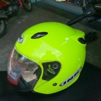 Best seller helm ink centro hijau stabilo bukan kyt mds nhk gm retro