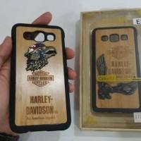 wood case harley davidson samsung e5 e 5 acc hp casing