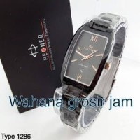 jam tangan wanita HEGNER 1286 hitam jarum rose Berkualitas