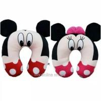 Bantal Leher Mickey atau Minnie Mouse