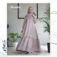 RANIA dress gamis katun linen busui original GREENISM