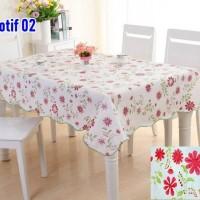 SQUARE Peva Taplak Meja Anti Air / Taplak Meja Plastik dengan Backing