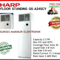 Sharp AC Floor Standing GS-A24SCY AC 2,5 PK, Coverage FArea: 30 -