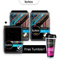 Kotex Ultrathins Package 2 - Free Tumbler