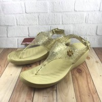 Sandal Wedges Wanita Hush Puppies Original Quincy SlingBack LightGold