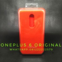 OnePlus 6 Silicone Red Casing Original Sarung Hardcase Leather