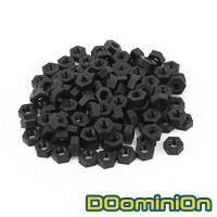 DOominiOn M3 Black Nylon Plastic Hex Nut