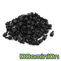 DOominiOn M3 * 6 + 6 Black Nylon Standoff Spacer