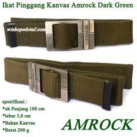Sabuk Kanvas Simple Green amrock