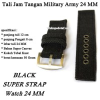 Tali Jam Murah Genuine Military Army 24 MM black
