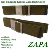 Sabuk Kanvas Simple Green zapa