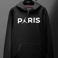 Hoodie klub PSG Paris air jordan (hitam sablon putih)