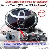 Emblem - Logo Tutup - Cover Belakang Ban Serep Toyota Rush - Hitam