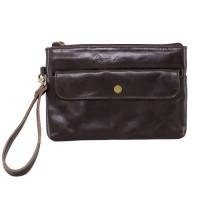 Clutch PU Darkbrown - Kenes Leather