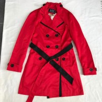 Red two tone trench coat 100% import hongkong