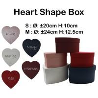 Heart Shape Box S: 20cm H:10cm - Box hati - kotak kado - bloombox