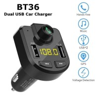 Dual USB Car Charger BT36 3.1A Handsfree Bluetooth Car Kit