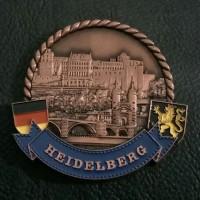 Magnet kulkas metal Heidelberg souvenir negara Jerman - Germany