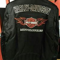 Jaket Pria Kulit Domba Sapi Super Harley Davidson