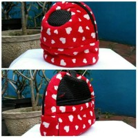 Bonding Pouch Oval Sugar Glider Jumbo With Pocket Love Red