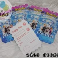 Kartu undangan ulang tahun frozen /ultah karakter frozen
