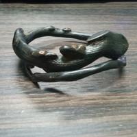 gelang akar bahar bentuk naga natural gelang akar bahar hitam jumbo