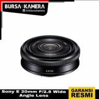 SONY LENSA E 20mm F/2.8 Wide-Angle Lens