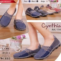Bernice / Cynthia 114 Original sepatu rajut anyam wanita