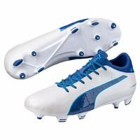 ORI Sepatu bola puma original soccer Evotouch 3 FG white/blue murah