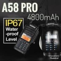 HT Baofeng A-58 Waterproof A58 di atas HT baofeng uv5r