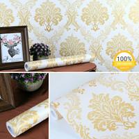 Harga termurah grosir wallpaper sticker dinding batik hijau | antitipu.com