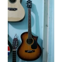 Gitar Akustik Merk Ibanez Sunburst Murah Jakarta Bonus Tas Dan Pick