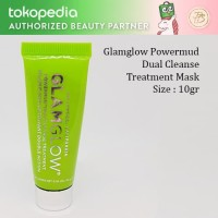 Glamglow Powermud Dualcleanse Treatment Mask 10gr, Masker Wajah