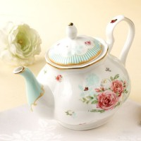 Tempat Minum Tempat Teh Teko Blooming Rose Stand Alone Tea Pot DISKON