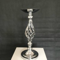 Flower Holder Hollow Curvy Silver Mermaid Height 47cm Candle Holder