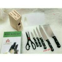 Pisau Set DineMate 8 Pcs / Knife Set / Pisau Dapur Hitam