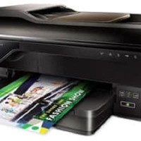 PRINTER HP OFFICEJET 7612 FORMAT A3+ E-ALL IN ONE FULL SET BARU