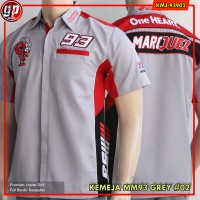 Kemeja Motogp Marquez 93 Grey