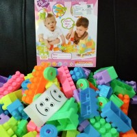Harga toys kids blocks hobi rakit blok lego edukasi size besar 76pcs pi76 | antitipu.com