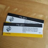John james size 001 leather needle handstitch jarum kulit 5pcs