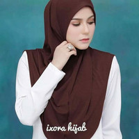 Hijab jilbab pashmina bergo kerudung scarf khimar instan nuha