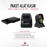 PAKET PRINTER QPOS Q58M + SCANNER EP2020 + CASH DRAWER 42x41cm