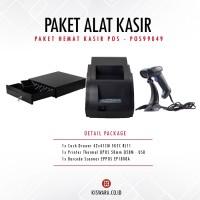 PAKET PRINTER QPOS Q58M + SCANNER EP1808A + CASH DRAWER 42x41cm