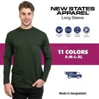 New States Apparel Premium Cotton Long Sleeve 7280 (COLOR, SIZE XXL)