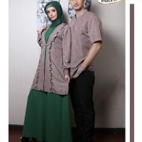 Busana Muslim Couple ELFA Ethica 18 Coklat Gamis size M