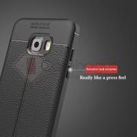 [ TERLARIS ] Samsung Galaxy C5 Pro - Stitches Leather Armor Soft Case