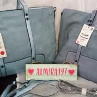 Harga best model promo diskon tas zara basic tote bag nude blue biru | Pembandingharga.com