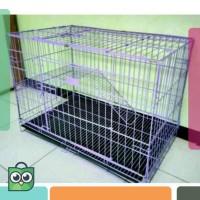 Kandang Tingkat Besar Besi Lipat Size XL(80X57x50) U/ Kucing /