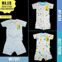 Pakaian Bayi Unisex Baju & Sepatu Velvet Junior Xl Xxl Setelan AIB4136
