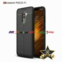 Case Pocophone F1 Softcase Casing Leather Silicon Slim Armor Xiaomi